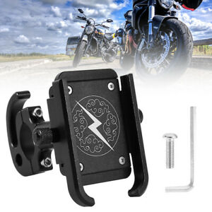 Motorcycle-Motorbike-Scooter-Mobile-Phone-Holder-Aluminum-Alloy-360-Mount-Stand