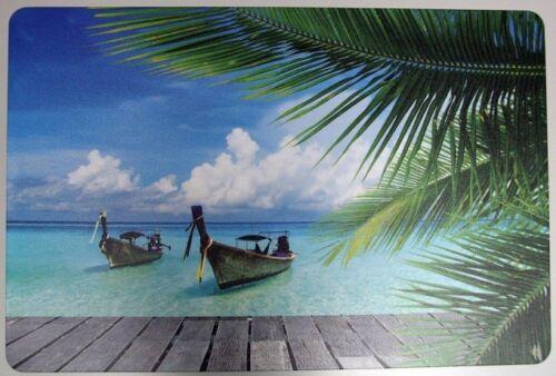 Meer Schreibtischunterlage KaribikWasser Strand 40x 60 cm abwischbar 2.Wahl