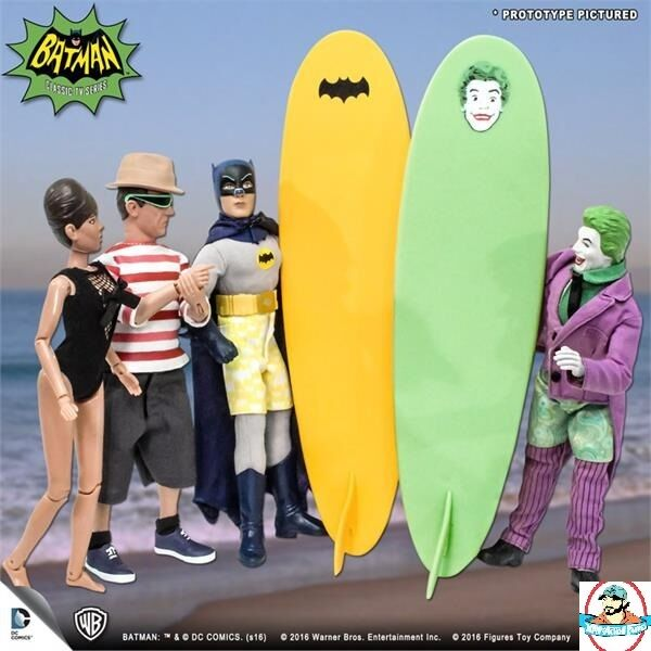 Batman Classic 1966 TV Series Retro Figures Surfing Series Set of 4