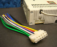 DUAL STEREO WIRE HARNESS 12-PIN RADIO POWER PLUG CD MP3 TAPE PLAYER US SELLER