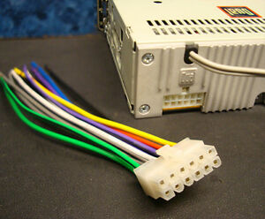 s l300 dual stereo wire harness 12 pin radio power plug cd mp3 tape dual radio wiring harness at webbmarketing.co