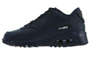 Natura Trastornado fuerte  Nike Air Max 90 Leather PS # 833414 412 Navy & White Pre School Kids SZ  10.5 - 3   eBay