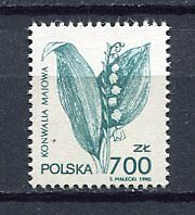 36005) POLAND 1991 MNH** Flower Type 1v. Scott# 3026