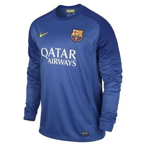 sports shoes 2bbac 0a89d Details about NIKE FC BARCELONA GOALKEEPER HOME JERSEY 2013/14.