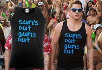 SUN'S OUT GUNS OUT Vest 21  22 Jump Street Surf Movie Summer Gym