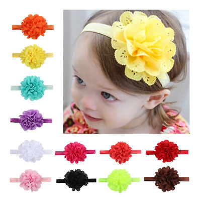 1//5pc Kids Girl Baby Headband Toddler Big Bow Headwear Hair Band Accessories