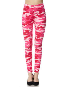 93c721f3dcc01 Image is loading Womens-Buttery-Soft-Pink-Camo-Leggings-Camouflage-Army-