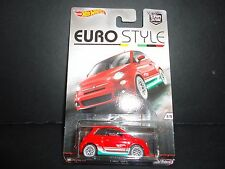 Hot Wheels Fiat 500 Red Euro Style 1/64 sat1