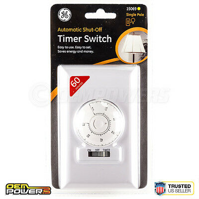 Ge Automatic Shut Off 60 Minute Wall Timer Switch For