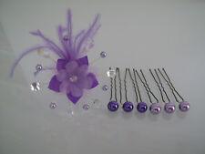 Pic/épingle/bijou Cheveux robe Mariée/Mariage Parme/violet/Cristal fleur perle