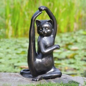 cat garden statue. image is loading stretching-yoga-cat-garden-sculpture-metal-kitty-statue- cat garden statue