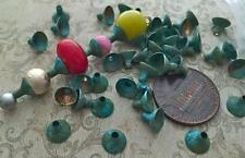 Vintage 5 x 6mm Aged Patina Brass Funnel Bead Caps 30