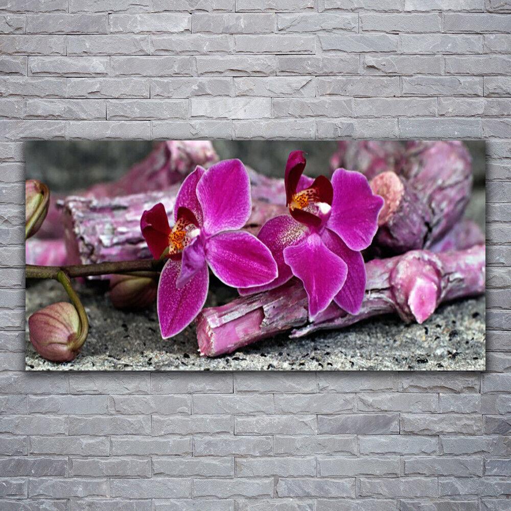 Photo sur toile Tableau Image Impression 120x60 Floral Fleurs Bois
