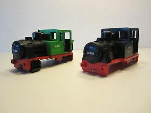 4# 2x Lok Dampflok Gehäuse Eisenbahn Sammlung Konvolut  4000 4001 4051 4005