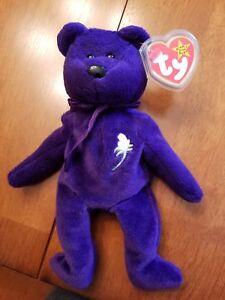 d118e80497c VERY RARE 1st EDITION PVC ~ PRINCESS (Diana) Bear 1997 Ty Beanie ...