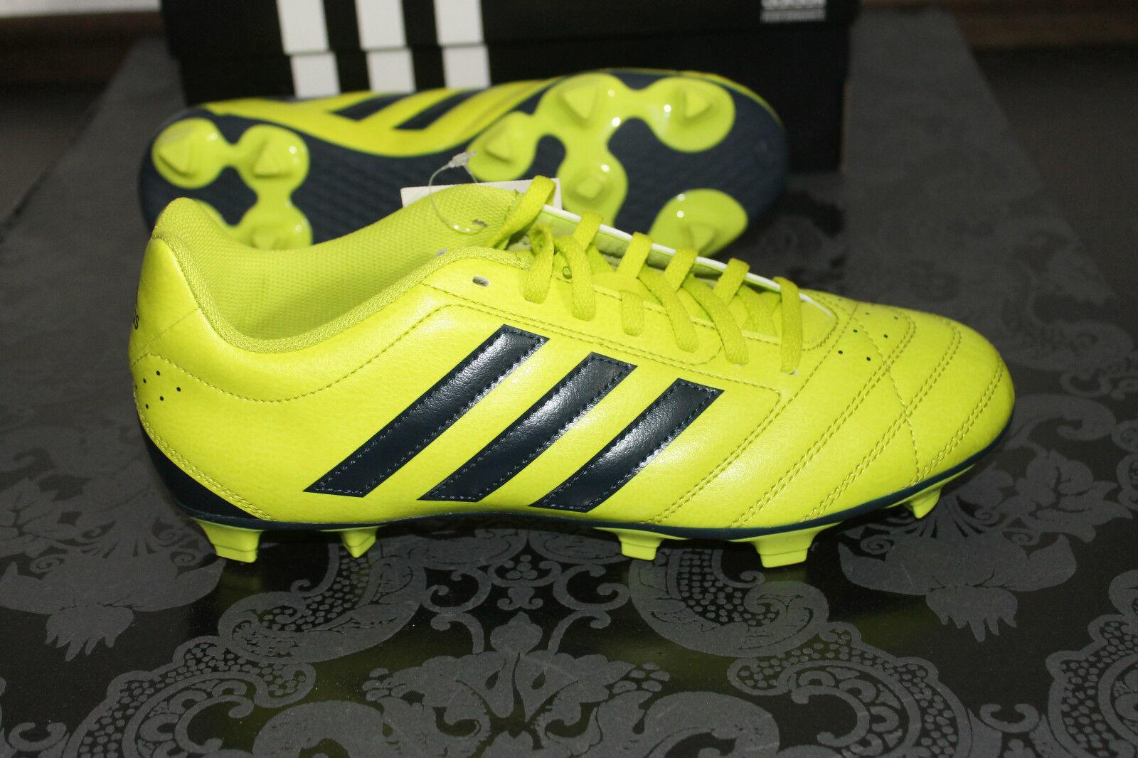 Adidas Goletto V FG Fútbol Zapatillas con tacos black yellow Tamaño 44,7 caja