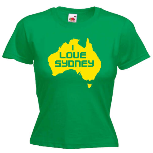I Love Sydney Australia Ladies Lady Fit T Shirt 13 Colours Size 6-16