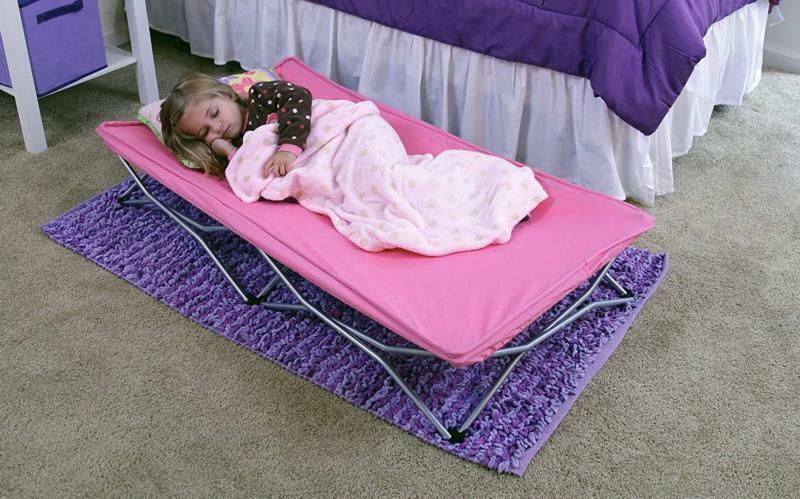 Regalo My Cot Portable Toddler Bed, Sheet Fitted Includes and Travel Case, Pink