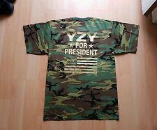YZY for President T Shirt Yeezy Kreem Kream Kanye West Camo White Zebra
