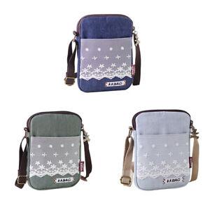 Women-Canvas-Cell-Phone-Wallet-Pouch-Shoulder-Bag-Handbag-Purse-Pocket-3-Colors