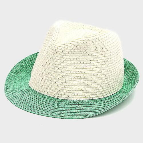 Women/'s Sun Hats 2-Tone Straw Fedora Hat Trilby Cuban Cap Short Brim Hat SR