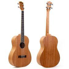 Kmise Baritone Ukulele Ukelele Mahogany 30 Inch Uke 4 String Hawaii Guitar