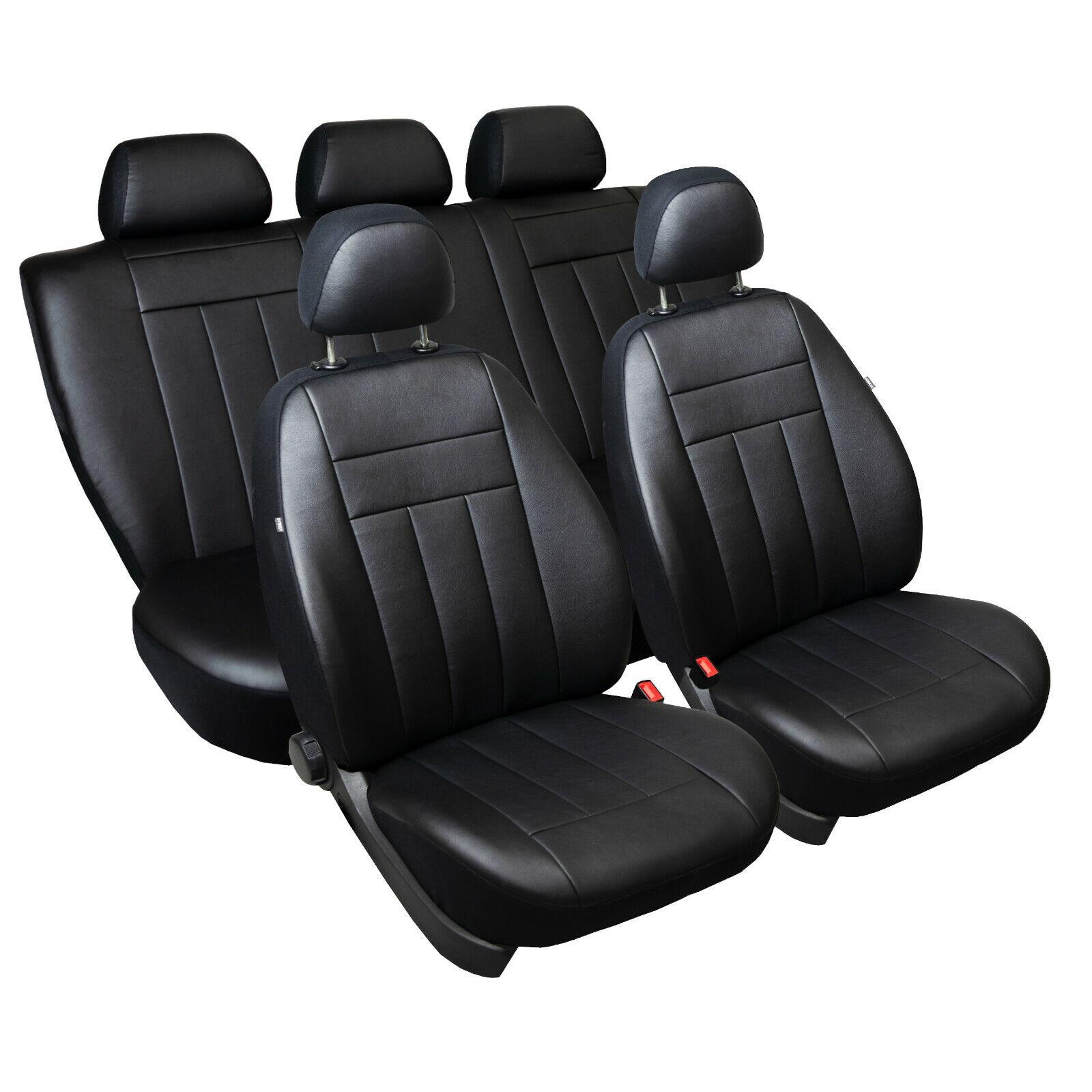 Mercedes W 124 S 124 C 124 Maß Sitzbezüge Komplettset Kunstleder//s//schwarz