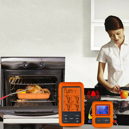 TS-TP40 Wireless Meat Thermometer Digital Remote Cooking Thermomet-SL DD  lP2yk