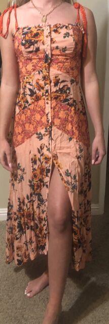 NWT Free People Floral Sun Dress. XS