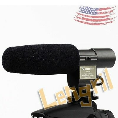 U.S. Camera Microphone SG-108 Stereo DV For Nikon D3S D300S D7000 D3100 D5100 D9