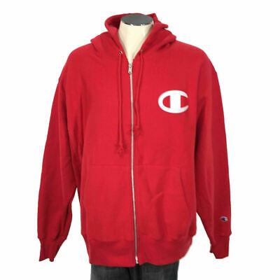 Champion Men's Corduroy Sweatshirt Crew Big C Pullover Dark Red PO 2XL 3XL 2X 3X