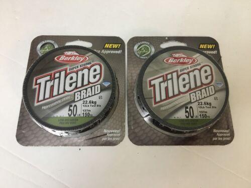 300 Total yds 2 Packages Trilene Braid Fishing Line 150yd 50lb