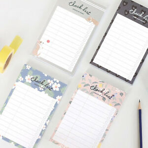 Iconic Becoming Checklist Memo Pad Note 80 Sheets Schedule To Do List Bookmark