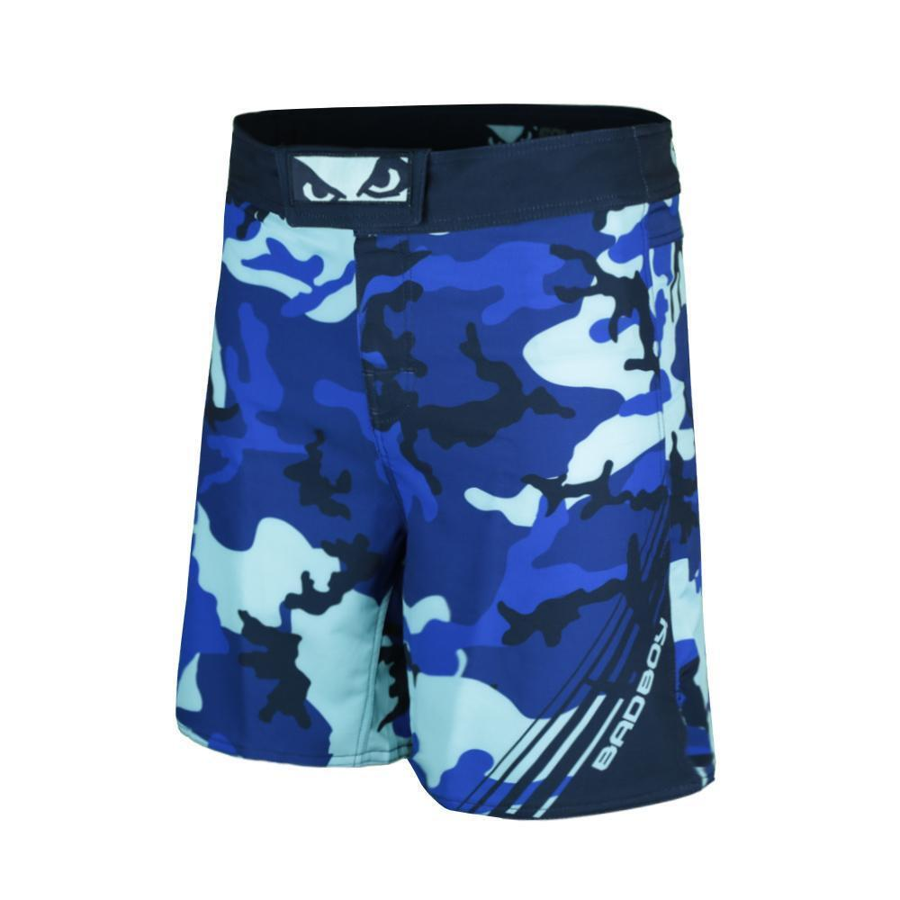 5d85a1dc23 Details about Bad Boy MMA Soldier Forest Blue Camo Shorts Training Fight  Gym Martial Arts