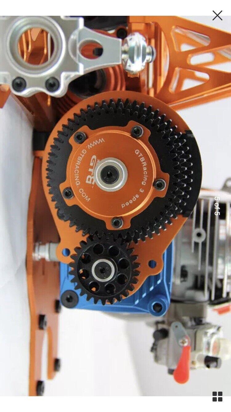 Kit de transmisión de velocidad GTB 3 para HPI BAJA 5B, 5T, 5SC, 5B2.0,SS, KM, ROVAN, 1 5