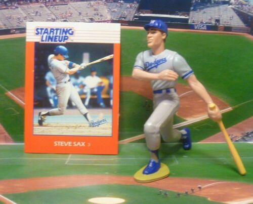 LOS ANGELES DODGERS Starting Lineup SLU 1988  STEVE SAX Card /& Figure
