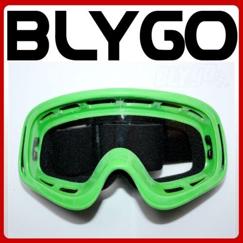 GREEN Clear Lens motocross motorbike goggles anti-fog MX PIT Dirt Quad Bike ATV