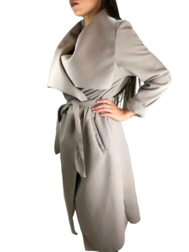 Cascata Da Donna Cappotto blogger Giacca Impermeabile Cardigan collo di transizione giacca