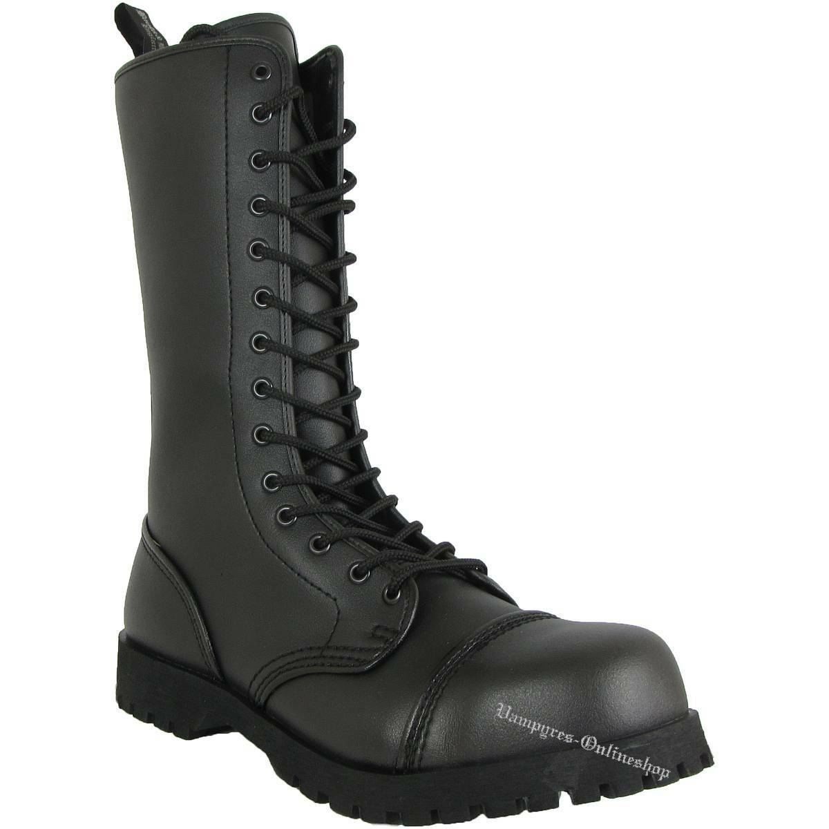 Boots & Braces 14 agujeros Vegetarian vegetariano vegetariana botas Rangers tapa de acero Noir