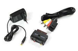 Super-Nintendo-AV-Cinch-Kabel-Netzteil-AC-Adapter-Scartadapter-fuer-SNES