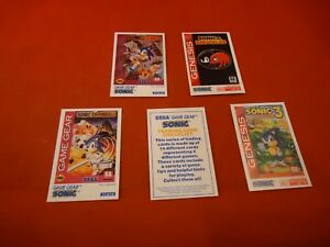 Sonic The Hedgehog Sega Game Gear Genesis 5 Tip Card Lot Rare