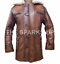 Dark-Knight-Rises-Bane-Real-Leather-Shearling-Brown-Ginger-Trench-Coat-BIG-SALE thumbnail 2