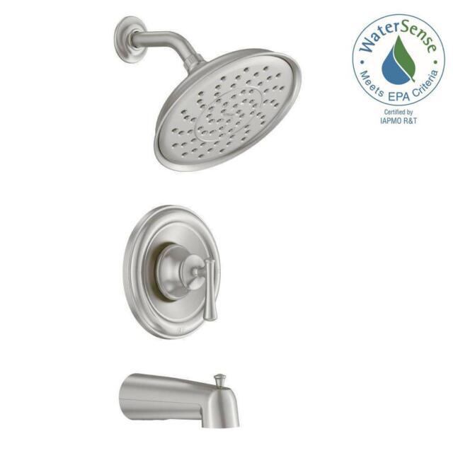 Moen Brushed Nickel Shower Faucet.Moen Ashville 1 Spray Tub And Shower Faucet In Brushed Nickel 82877srn