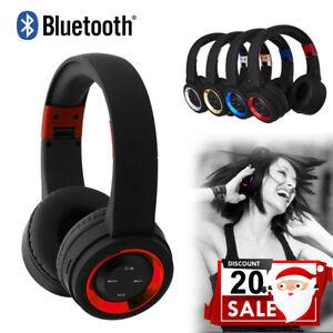 Kabellose-Kopfhoerer-Bluetooth-Headset-Noise-Cancelling-ueber-Ohr-mit-Mikrofon-Neu