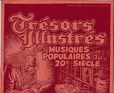 """Storage & Media Accessories Selfless R Crumb 10-inch Illustrated Record Sleeve """"master Treasures"""" 2000 Red France"""