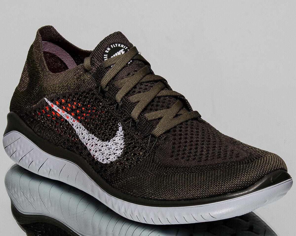 Nike libera rn flyknit 2018 uomini carico cachi di puro platino scarpe da corsa 942838-300