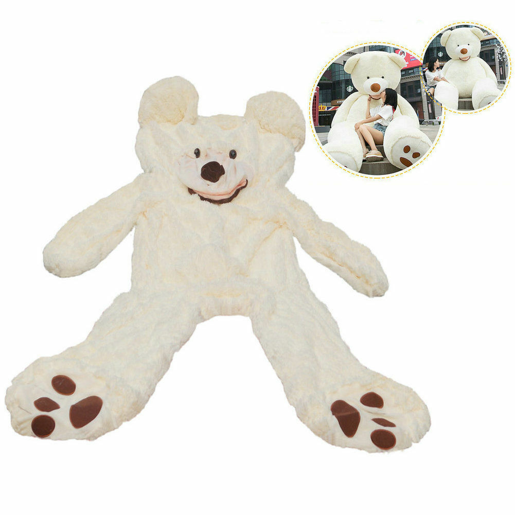 200cm Super Huge Teddy bear only Cover Plush Toy Shell  with Zipper  78'' bianca