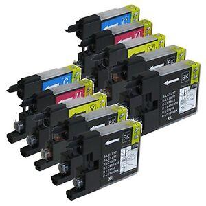 10 Pack LC75 LC-75 Ink For Brother MFC-J280W MFC-J425W MFC-J430W MFC-J435W