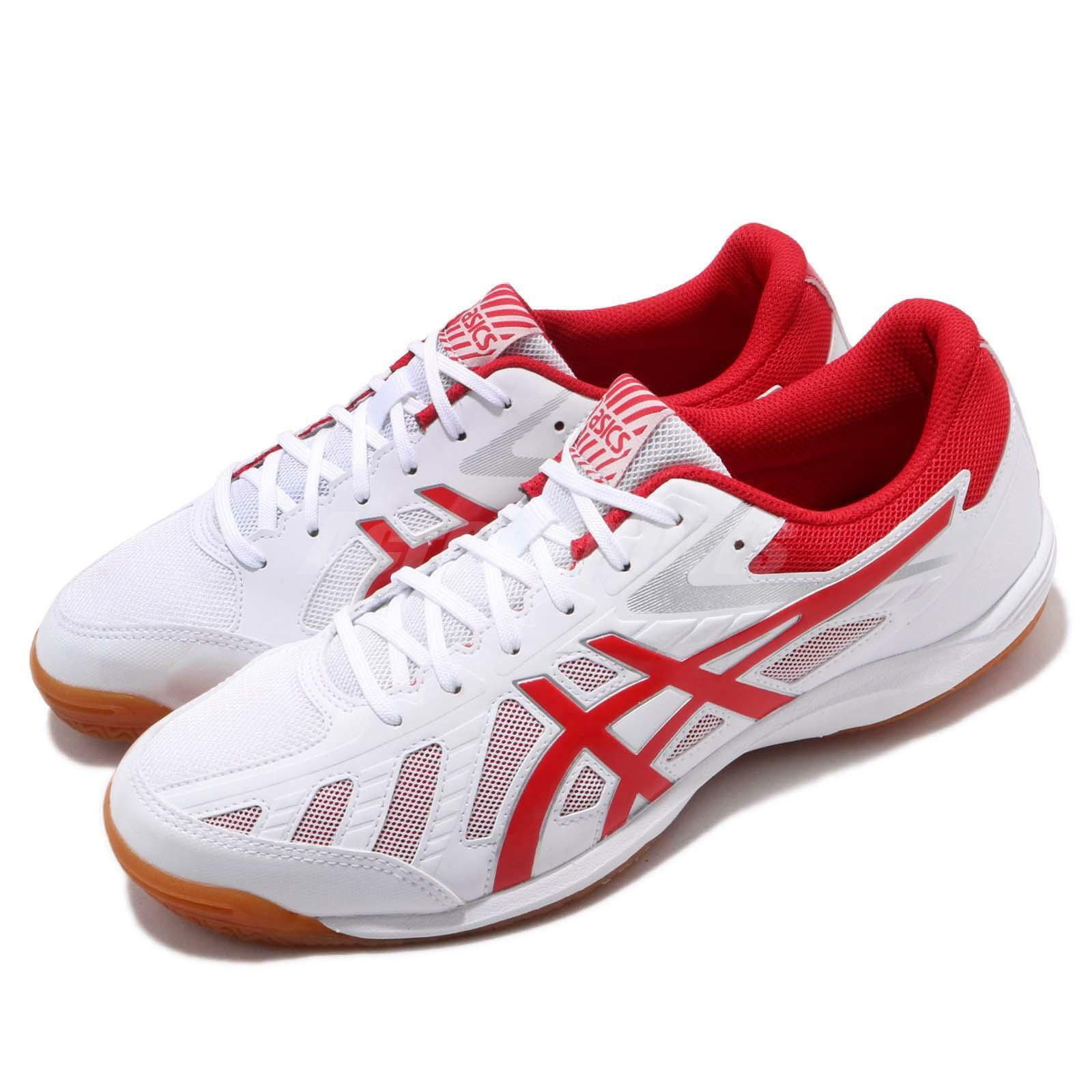 Asics Attack Hyperbeat SP 3 bianca rosso Gum Men Table Tennis scarpe 1073A004-101