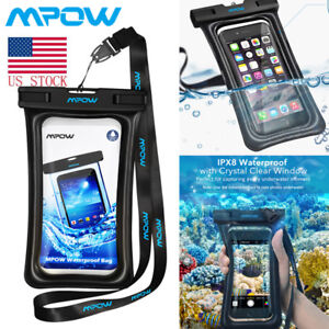new concept d7368 6a5c0 Details about MPOW Waterproof Phone Case Anti-Water Floatable Pouch Dry Bag  Cover for iPhone 7